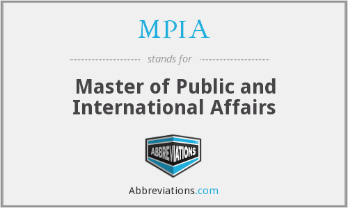 What does MPIA stand for?