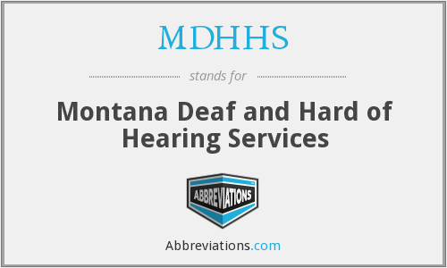 What does MDHHS stand for?
