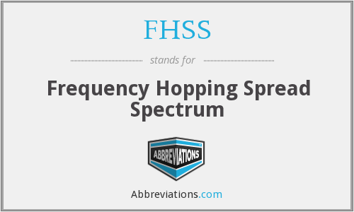 What does FHSS stand for?