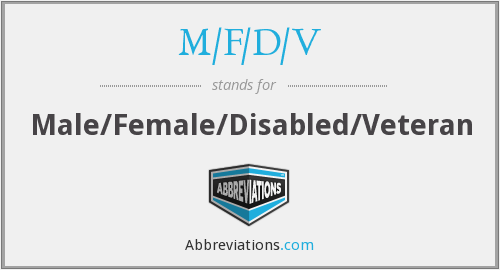 What does M/F/D/V stand for?