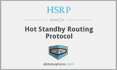 What does HSRP stand for?