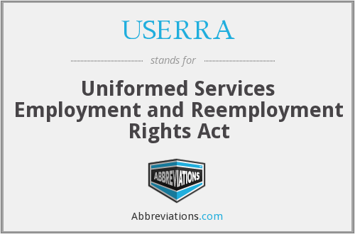 What does USERRA stand for?