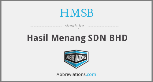 What does HMSB stand for?
