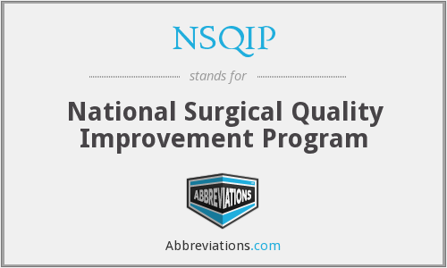 What does NSQIP stand for?