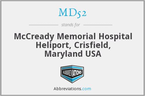 What does MD52 stand for?