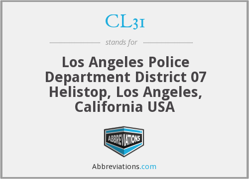 What does CL31 stand for?