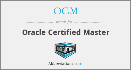 What does OCM stand for?