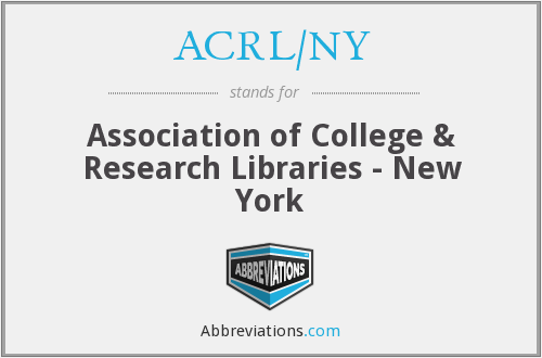 What does ACRL/NY stand for?