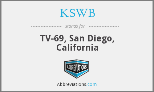 What does KSWB stand for?