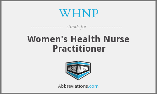 What does WHNP stand for?