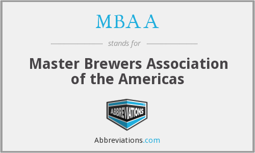 What does MBAA stand for?