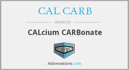 What does CAL CARB stand for?