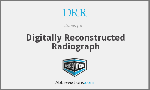 What does DRR stand for?