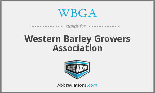 What does WBGA stand for?