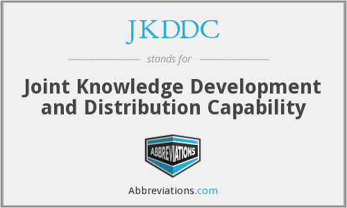 What does JKDDC stand for?