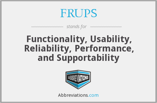 What does FRUPS stand for?