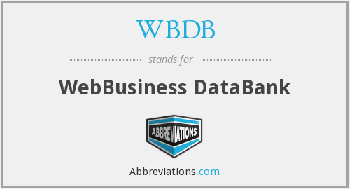 What does WBDB stand for?