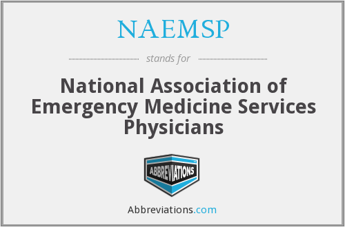 What does NAEMSP stand for?