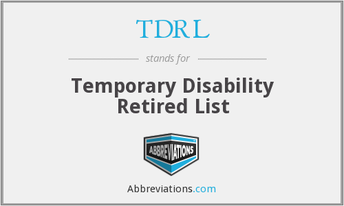 What does TDRL stand for?