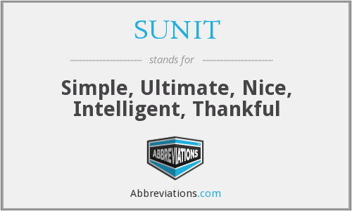What does SUNIT stand for?