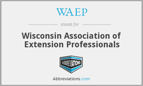 What does WAEP stand for?