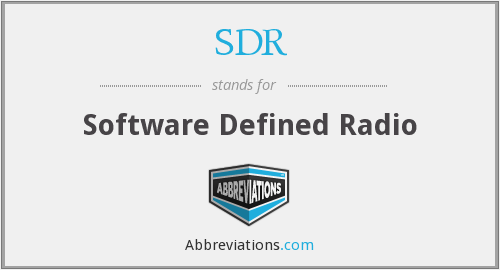 What does SDR stand for?