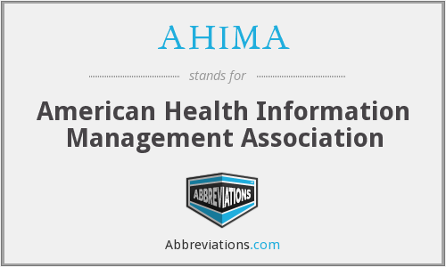What does AHIMA stand for?