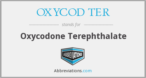 What does OXYCOD TER stand for?