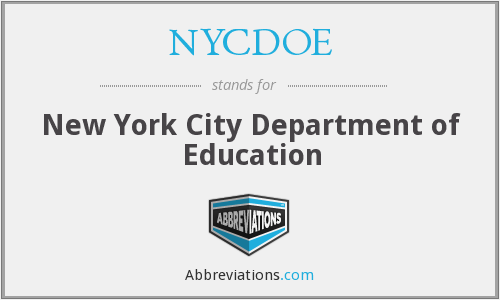 What does NYCDOE stand for?