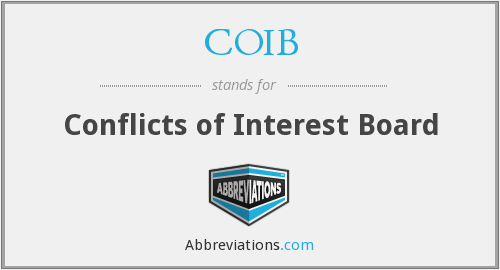 What does COIB stand for?
