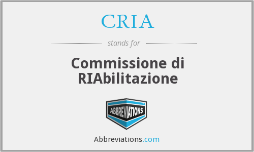 What does CRIA stand for?