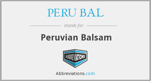 What does PERU BAL stand for?