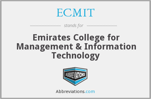 What does ECMIT stand for?