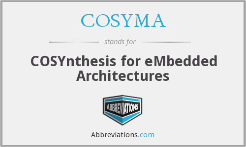 What does COSYMA stand for?