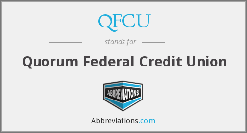 What does QFCU stand for?