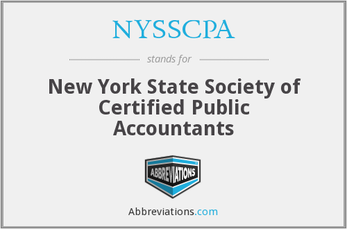What does NYSSCPA stand for?
