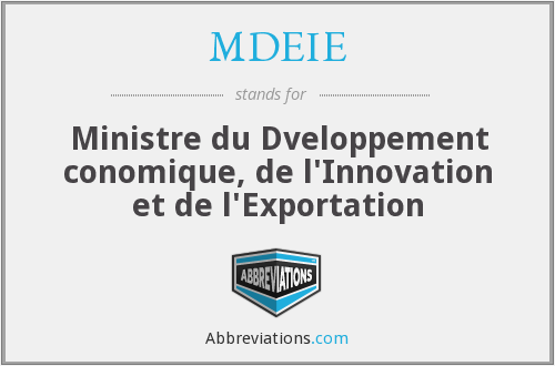 What does MDEIE stand for?
