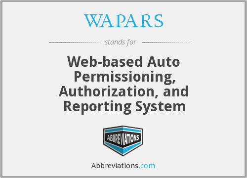 What does WAPARS stand for?