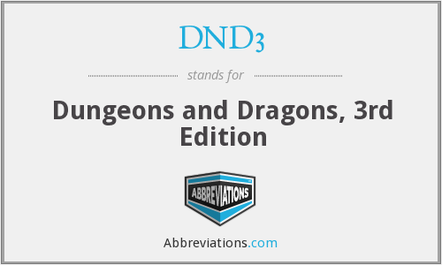 What does DND3 stand for?