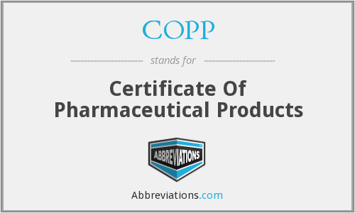 What does COPP stand for?