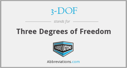 What does 3-DOF stand for?