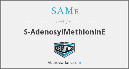 What does s-adenosylmethionine stand for?