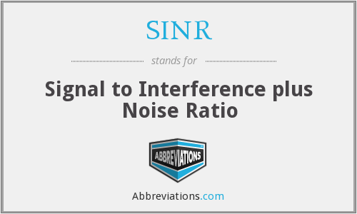 What does SINR stand for?