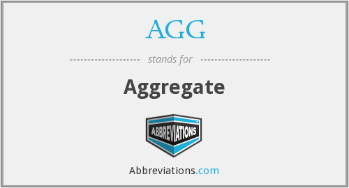 What does AGG stand for?