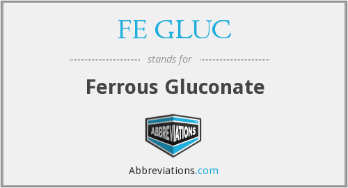 What does FE GLUC stand for?