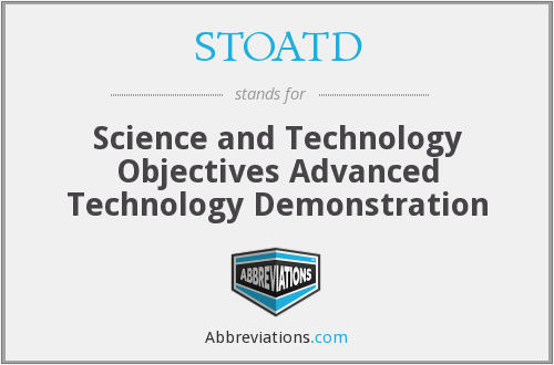 What does STOATD stand for?