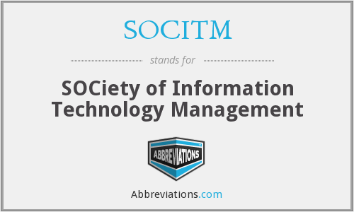 What does SOCITM stand for?