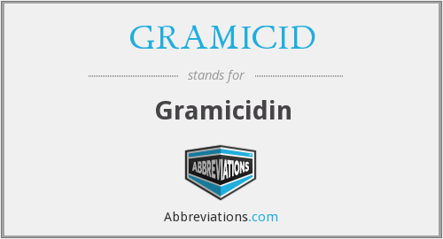 What does GRAMICID stand for?