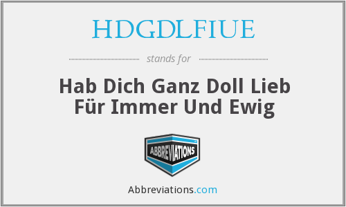 What does HDGDLFIUE stand for?