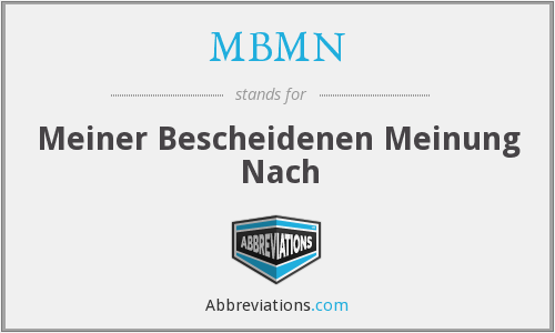 What does MBMN stand for?